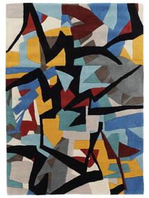 Stefan Teppich  200X300 Moderner Schwartz/Blau (Wolle, Indien)