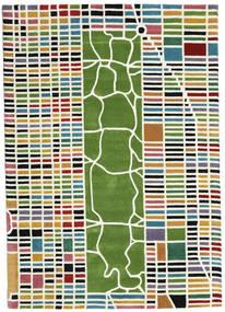 New-York/Manhattan Handtufted - Multi Teppich  160X230 Moderner Beige/Dunkelgrün (Wolle, Indien)