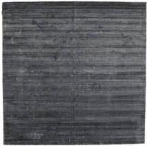 Bambus Seide Loom - Charcoal Teppich  250X250 Moderner Quadratisch Lila/Dunkelgrau/Schwartz Großer ( Indien)