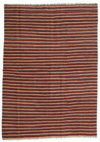 Kelim Teppich  172X240 Echter Orientalischer Handgewebter Dunkelrot/Blau (Wolle, Persien/Iran)