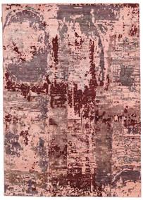 Himalaya Bambus Seide Teppich  167X238 Echter Moderner Handgeknüpfter Hellrosa/Dunkelrot ( Indien)