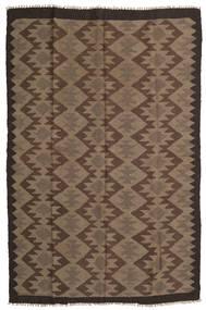 Kelim Maimane Teppich  160X243 Echter Orientalischer Handgewebter Braun/Dunkelbraun (Wolle, Afghanistan)