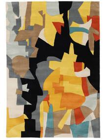 Rasmus Teppich  160X230 Moderner Schwartz/Hellbraun (Wolle, Indien)