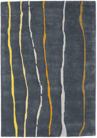 Flaws Handtufted - Grau Teppich  140X200 Moderner Dunkelgrau/Dunkelblau (Wolle, Indien)