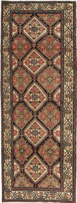 Hamadan Patina Teppich  105X285 Echter Orientalischer Handgeknüpfter Läufer Braun/Dunkelgrau (Wolle, Persien/Iran)