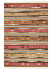 Kelim - Nezzim - Nezzim Teppich  170X240 Echter Moderner Handgewebter Hellbraun/Hellgrau ( Indien)