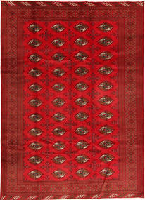 Turkaman Teppich 208X293 Echter Orientalischer Handgeknüpfter Rot/Rost/Rot (Wolle, Persien/Iran)