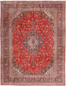 Keshan Teppich 315X420 Echter Orientalischer Handgeknüpfter Dunkelrot/Rost/Rot Großer (Wolle, Persien/Iran)