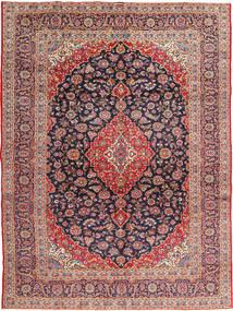 Keshan Signature : Kashan Ghotbi Teppich  295X395 Echter Orientalischer Handgeknüpfter Rost/Rot/Dunkellila Großer (Wolle, Persien/Iran)