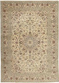 Keshan Teppich  285X408 Echter Orientalischer Handgeknüpfter Hellgrau/Gelb Großer (Wolle, Persien/Iran)