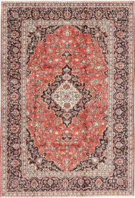 Keshan Teppich  202X300 Echter Orientalischer Handgeknüpfter Hellbraun/Dunkelrot (Wolle, Persien/Iran)