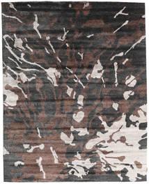 Nepal Original Teppich  240X301 Echter Moderner Handgeknüpfter Dunkelgrau/Dunkelbraun (Wolle/Bambus-Seide, Nepal/Tibet)