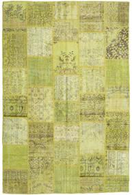 Patchwork Teppich  196X298 Echter Moderner Handgeknüpfter Olivgrün/Gelb (Wolle, Türkei)