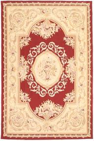 Aubouson Teppich 184X281 Echter Orientalischer Handgeknüpfter Dunkel Beige/Beige/Dunkelrot (Wolle, China)