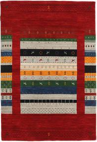 Loribaf Loom Designer - Dk.red/Multi Teppich 120X180 Moderner Dunkelrot/Hellgrau (Wolle, Indien)
