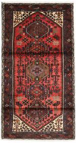 Hamadan Teppich  102X188 Echter Orientalischer Handgeknüpfter Dunkelrot/Dunkelbraun (Wolle, Persien/Iran)