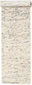 Big Drop - Grau/Beige Mix Teppich  80X340 Echter Moderner Handgewebter Läufer Beige/Hellgrau (Wolle, Indien)