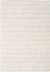 Kelim Long Stitch - Beige Teppich  160X230 Echter Moderner Handgewebter Hellgrau/Beige (Wolle, Indien)