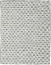 Kelim Honey Comb - Grau Teppich  190X240 Echter Moderner Handgewebter Hellgrau/Türkisblau (Wolle, Indien)
