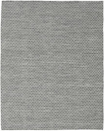 Kelim Honey Comb - Schwarz/Grau Teppich  190X240 Echter Moderner Handgewebter Hellgrau/Dunkelgrau (Wolle, Indien)