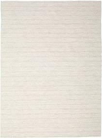 Kelim Long Stitch - Beige Teppich  290X390 Echter Moderner Handgewebter Hellgrau/Beige Großer (Wolle, Indien)