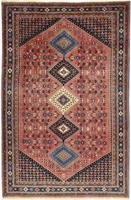Yalameh Teppich 203X310 Echter Orientalischer Handgeknüpfter Dunkelrot/Dunkelbraun (Wolle, Persien/Iran)