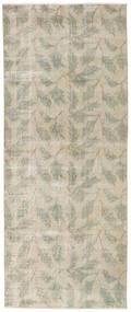 Colored Vintage Teppich  92X226 Echter Moderner Handgeknüpfter Läufer Hellgrau/Dunkel Beige (Wolle, Türkei)