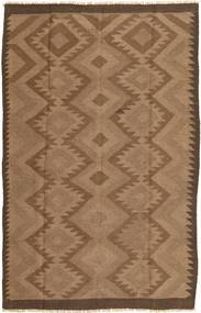 Kelim Teppich  157X241 Echter Orientalischer Handgewebter Braun (Wolle, Persien/Iran)