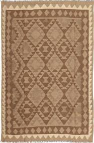 Kelim Teppich  158X244 Echter Orientalischer Handgewebter Braun/Hellbraun (Wolle, Persien/Iran)