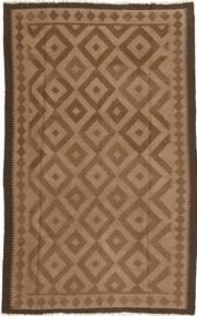 Kelim Teppich  157X240 Echter Orientalischer Handgewebter Braun/Dunkelbraun (Wolle, Persien/Iran)