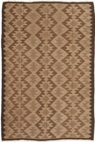 Kelim Teppich  157X237 Echter Orientalischer Handgewebter Braun/Hellbraun (Wolle, Persien/Iran)