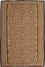 Kelim Teppich  165X244 Echter Orientalischer Handgewebter Braun/Hellbraun (Wolle, Persien/Iran)