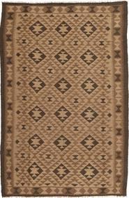 Kelim Teppich  159X247 Echter Orientalischer Handgewebter Braun/Dunkelbraun (Wolle, Persien/Iran)