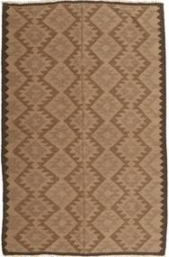 Kelim Teppich  160X240 Echter Orientalischer Handgewebter Braun (Wolle, Persien/Iran)
