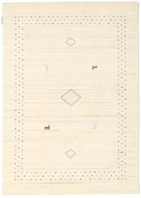 Loribaf Loom Alfa - Natural Teppich  140X200 Moderner Beige/Weiß/Creme (Wolle, Indien)