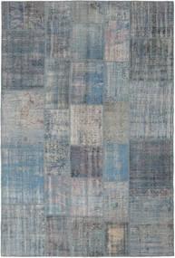 Patchwork Teppich  205X306 Echter Moderner Handgeknüpfter Blau/Hellgrau (Wolle, Türkei)