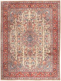 Sarough Teppich 294X390 Echter Orientalischer Handgeknüpfter Braun/Hellbraun Großer (Wolle, Persien/Iran)