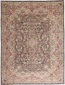 Kerman Teppich 290X387 Echter Orientalischer Handgeknüpfter Hellgrau/Dunkelbraun Großer (Wolle, Persien/Iran)