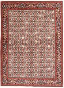 Bidjar Teppich  173X237 Echter Orientalischer Handgeknüpfter Dunkelrot/Beige (Wolle, Persien/Iran)
