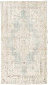 Colored Vintage Teppich  112X200 Echter Moderner Handgeknüpfter Dunkel Beige/Hellgrau (Wolle, Türkei)