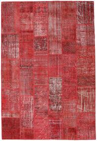 Patchwork Teppich  204X302 Echter Moderner Handgeknüpfter Dunkelrot/Rot (Wolle, Türkei)