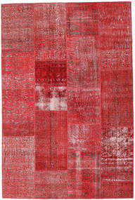 Patchwork Teppich 202X303 Echter Moderner Handgeknüpfter Rost/Rot/Dunkelrot (Wolle, Türkei)