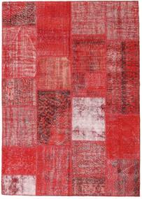 Patchwork Teppich  162X230 Echter Moderner Handgeknüpfter Rost/Rot/Dunkelrot/Rot (Wolle, Türkei)
