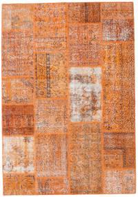 Patchwork Teppich  161X232 Echter Moderner Handgeknüpfter Hellbraun/Orange (Wolle, Türkei)