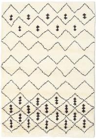 Berber Indisch - Off-Weiß/Schwarz Teppich  120X180 Echter Moderner Handgeknüpfter Weiß/Creme/Beige (Wolle, Indien)