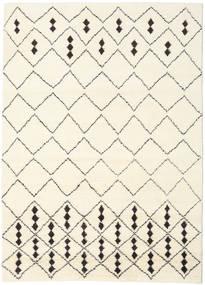 Berber Indisch - Off-Weiß/Schwarz Teppich  210X290 Echter Moderner Handgeknüpfter Beige/Weiß/Creme (Wolle, Indien)