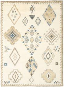 Berber Indisch - Naturweiß/Beige Teppich  210X290 Echter Moderner Handgeknüpfter Weiß/Creme/Beige (Wolle, Indien)