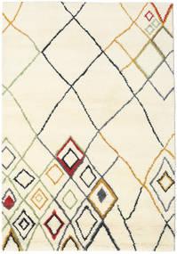 Berber Indisch - Off-Weiß/Multi Teppich  160X230 Echter Moderner Handgeknüpfter Beige/Weiß/Creme (Wolle, Indien)