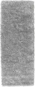 Stick Saggi - Grau Teppich 80X200 Echter Moderner Handgeknüpfter Läufer Dunkelbraun/Hellgrau (Wolle, Indien)