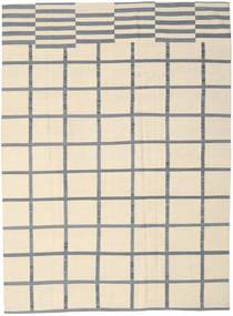 Kelim Modern Teppich  210X285 Echter Moderner Handgeknüpfter Beige/Hellblau (Wolle, Indien)